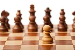 ενάντια σε όλο το σκάκι ένα Στοκ Φωτογραφία
