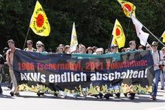ενάντια στην ισχύ πυρηνικών &epsi στοκ εικόνα με δικαίωμα ελεύθερης χρήσης