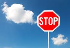 ενάντια στην μπλε στάση ου& Στοκ φωτογραφία με δικαίωμα ελεύθερης χρήσης