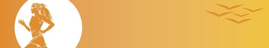 ενάντια στη γυναίκα ουρανού W δρομέων πουλιών Στοκ Φωτογραφίες