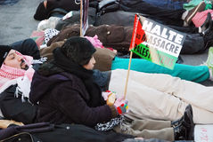 ενάντια στον πόλεμο της Γάζας demonstrants Στοκ Εικόνα