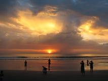 ενάντια στο όμορφο seascape θάλασσας έκτασης σύνθεσης φυσικό ηλιοβασίλεμα ουρανού Στοκ εικόνα με δικαίωμα ελεύθερης χρήσης