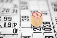 ενάντια στο bingo οι κάρτες αν&t Στοκ Φωτογραφίες