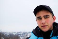 ενάντια στο eyed γκρίζο όμορφ&omicr Στοκ εικόνα με δικαίωμα ελεύθερης χρήσης