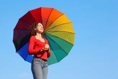 ενάντια parasol εκμετάλλευση&sig Στοκ Φωτογραφία