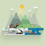 Ενέργεια άνθρακα διανυσματική απεικόνιση