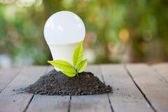 Ενέργεια - αποταμίευση με τη environmentRenewable ενέργεια στοκ φωτογραφία