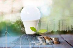 Ενέργεια - αποταμίευση με τη environmentRenewable ενέργεια στοκ φωτογραφίες