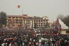 ενέργεια ενάντια στο μαοϊκό συμβαλλόμενο μέρος του Νεπάλ cpn uml Στοκ Εικόνες