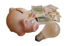 Ενέργεια και χρήματα αποταμίευσης Στοκ εικόνα με δικαίωμα ελεύθερης χρήσης