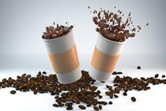 Ενέργεια πρωινού του καφέ Στοκ φωτογραφία με δικαίωμα ελεύθερης χρήσης