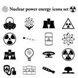 Ενέργεια 16 πυρηνικής ενέργειας απλό εικονίδιο στο ζωηρόχρωμο υπόβαθρο Στοκ Φωτογραφία