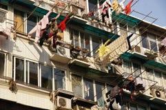 Ενέργεια - σκοινιά για άπλωμα Σαγκάη Κίνα αποταμίευσης στοκ φωτογραφία με δικαίωμα ελεύθερης χρήσης