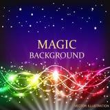 Ενέργεια της μετακίνησης και της ομορφιάς Αφηρημένη απεικόνιση στα φωτεινά χρώματα Μαγική διανυσματική απεικόνιση Στοκ εικόνα με δικαίωμα ελεύθερης χρήσης