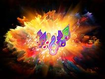 ενέργεια χρωμάτων μουσικ Στοκ Εικόνες