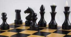 Ενέχυρο και άλλα κομμάτια σκακιού στοκ φωτογραφία με δικαίωμα ελεύθερης χρήσης