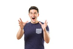 Ενήλικα άτομα με τις συγκινήσεις και τις χειρονομίες Στοκ Φωτογραφία