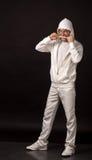 ενήλικος μαύρος τύπος αν&al Στοκ Φωτογραφία
