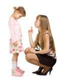 ενήλικο κορίτσι λίγη όρκιση στοκ εικόνα με δικαίωμα ελεύθερης χρήσης