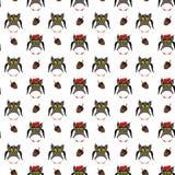 Ενήλικες κουκουβάγιες με το βελανίδι Στοκ φωτογραφίες με δικαίωμα ελεύθερης χρήσης