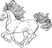 Ενήλικο άλογο σελίδων χρωματισμού Στοκ Εικόνα