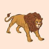 Ενήλικο αρσενικό λιοντάρι ρεαλιστικό Στοκ Εικόνα