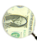 ενίσχυση γυαλιού δολα&rh στοκ εικόνα με δικαίωμα ελεύθερης χρήσης