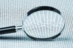 ενίσχυση γυαλιού δυαδικού κώδικα Στοκ φωτογραφία με δικαίωμα ελεύθερης χρήσης