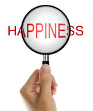 Ενίσχυση - γυαλί με την ευτυχία στοκ εικόνες