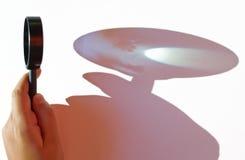 Ενίσχυση - γυαλί με τη μακριά σκιά Στοκ Εικόνες