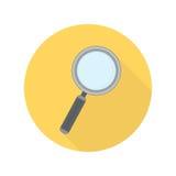 Ενίσχυση - διανυσματικό εικονίδιο γυαλιού απεικόνιση αποθεμάτων