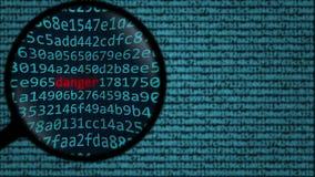 Ενίσχυση - το γυαλί ανακαλύπτει τον κίνδυνο λέξης στη οθόνη υπολογιστή, τρισδιάστατη απόδοση Στοκ φωτογραφίες με δικαίωμα ελεύθερης χρήσης