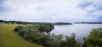 εναέρια λάκκα Thimba, conkouati-Douli εικόνων mangroove, Κογκό Στοκ Φωτογραφίες