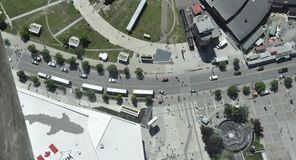 Εναέρια άποψη από τη γειτονιά πύργων ΣΟ του Τορόντου στην επαρχία Καναδάς του Οντάριο Στοκ εικόνες με δικαίωμα ελεύθερης χρήσης
