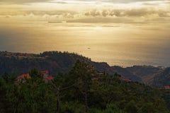 Εναέρια άποψη από τη Μαδέρα προς το νησί Deserta Grande, Μαδέρα στοκ φωτογραφία