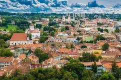 Εναέρια άποψη από τον πύργο Gediminas Στοκ Φωτογραφίες