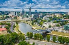 Εναέρια άποψη από τον πύργο Gediminas Στοκ Φωτογραφία