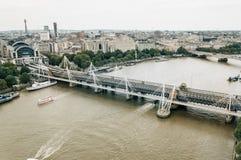 Εναέρια άποψη από το μάτι του Λονδίνου Στοκ φωτογραφίες με δικαίωμα ελεύθερης χρήσης