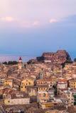 Εναέρια άποψη από το νέο φρούριο Kerkyra, νησί της Κέρκυρας, Ελλάδα Στοκ φωτογραφία με δικαίωμα ελεύθερης χρήσης