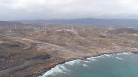 Εναέρια άποψη από το ύψος της ακτής Tenerife, Κανάρια νησιά, Ισπανία Κηφήνας που πυροβολείται σε 4K φιλμ μικρού μήκους