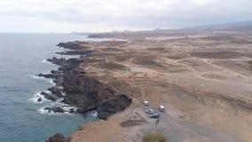 Εναέρια άποψη από το ύψος του φάρου Faro de Rasca Tenerife, Κανάρια νησιά, Ισπανία απόθεμα βίντεο