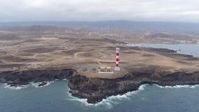 Εναέρια άποψη από το ύψος του φάρου Faro de Rasca Tenerife, Κανάρια νησιά, Ισπανία φιλμ μικρού μήκους