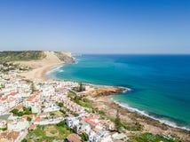 Εναέρια άποψη από Praia DA Luz στοκ φωτογραφίες με δικαίωμα ελεύθερης χρήσης