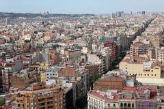 Εναέρια άποψη Βαρκελώνη, Ισπανία Στοκ εικόνα με δικαίωμα ελεύθερης χρήσης