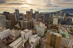 Εναέρια άποψη εικονικής παράστασης πόλης του Βανκούβερ Π.Χ. στον Καναδά Στοκ Εικόνες