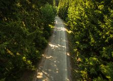 Εναέρια άποψη ενός δρόμου Στοκ φωτογραφίες με δικαίωμα ελεύθερης χρήσης