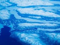 Εναέρια άποψη ενός εθνικού πάρκου της Αλάσκας στοκ εικόνα
