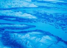 Εναέρια άποψη ενός εθνικού πάρκου της Αλάσκας στοκ φωτογραφίες