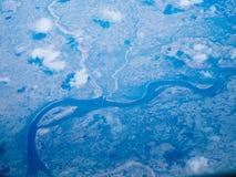 Εναέρια άποψη ενός εθνικού πάρκου της Αλάσκας στοκ εικόνα με δικαίωμα ελεύθερης χρήσης
