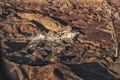 Εναέρια άποψη ενός λατομείου πετρών στοκ εικόνες με δικαίωμα ελεύθερης χρήσης